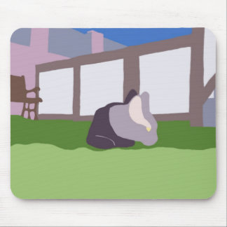 Armond in yard mouse pad