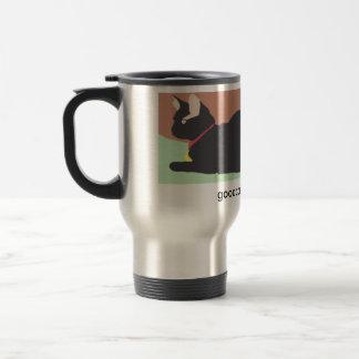 Armond on grass stainless steel travel mug