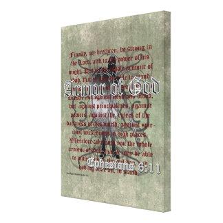 Armor of God Ephesians 6 10-18 Christian Soldier Canvas Prints
