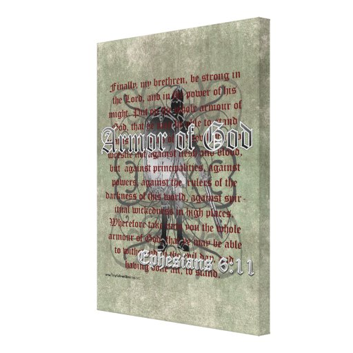 Armor of God, Ephesians 6:10-18, Christian Soldier Canvas Prints