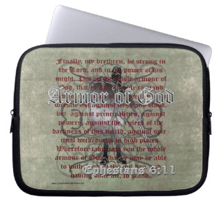 Armor of God, Ephesians 6:10-18, Christian Soldier Computer Sleeves