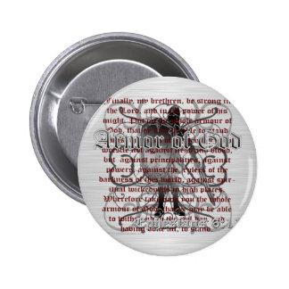Armor of God Soldier 6 Cm Round Badge