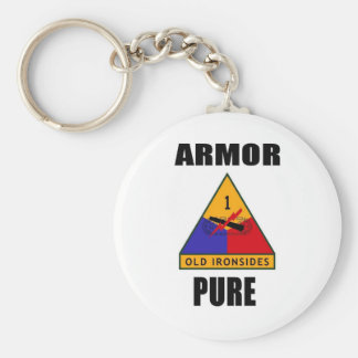 ARMOR PURE BASIC ROUND BUTTON KEY RING