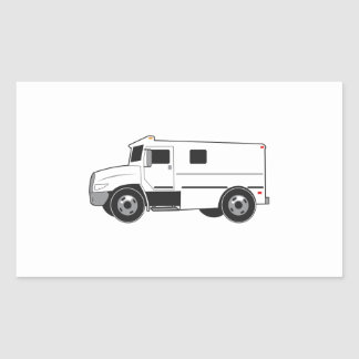 Armored Truck Rectangle Sticker