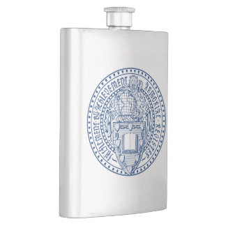 Armorial Register Seal, Premium Hip Flask