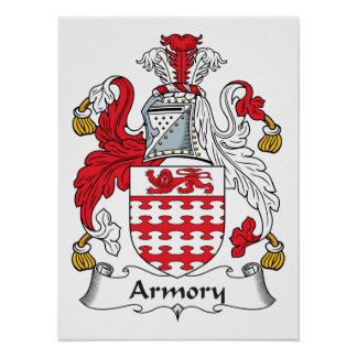 Armory Family Crest Posters