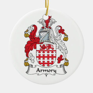 Armory Family Crest Round Ceramic Decoration