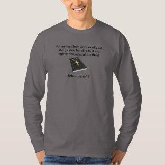 Armour of God Men's Long Sleeve T-Shirt w/Bible