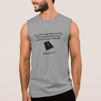 Armour of God Men's Sleeveless T-Shirt w/Bible