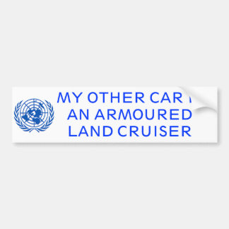 Armoured Land Cruiser Bumper Sticker
