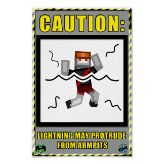 Armpit Lightning Warning Poster
