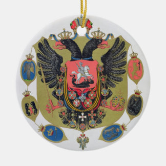 Arms and shield of the state of Imperial Russia, f Christmas Ornament