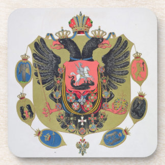 Arms and shield of the state of Imperial Russia, f Coaster