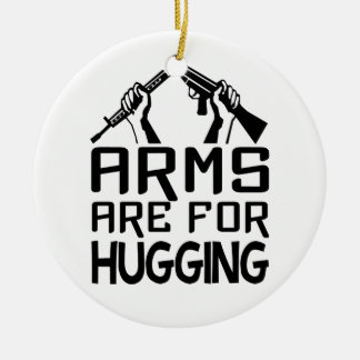 Arms Are For Hugging ornament, customize Christmas Ornament