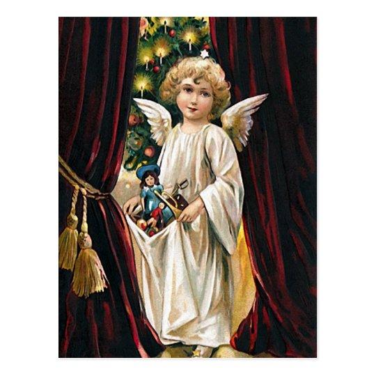 Arms full of Joy -Christmas greeting postcard