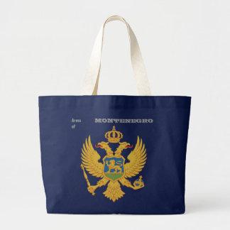 Arms of MONTENEGRO Large Tote Bag