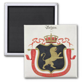 Arms of the Belgian Royal Family, from a collectio Square Magnet