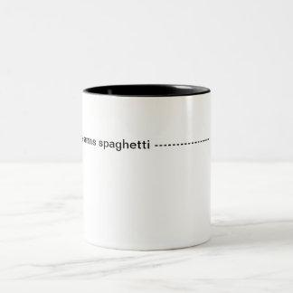 Arms spaghetti Two-Tone mug