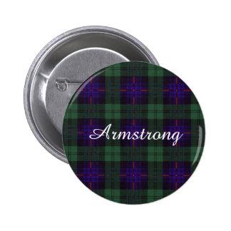 Armstrong clan Plaid Scottish tartan 6 Cm Round Badge
