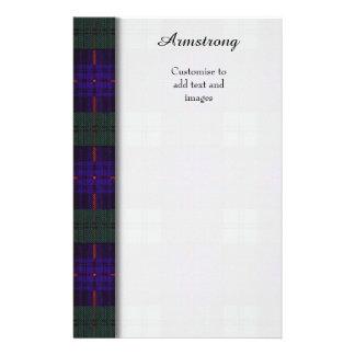 Armstrong clan Plaid Scottish tartan 14 Cm X 21.5 Cm Flyer