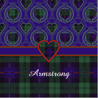Armstrong clan Plaid Scottish tartan Cut Out