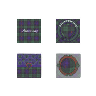 Armstrong clan Plaid Scottish tartan Stone Magnet