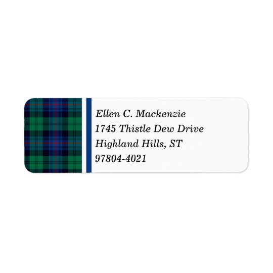 Armstrong Clan Royal Blue and Green Tartan Return