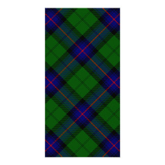 Armstrong clan tartan blue green plaid personalized photo card
