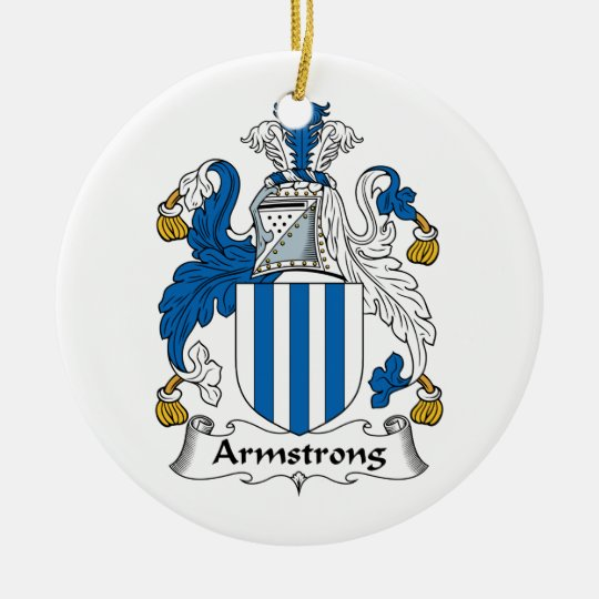 Armstrong Family Crest Christmas Ornament