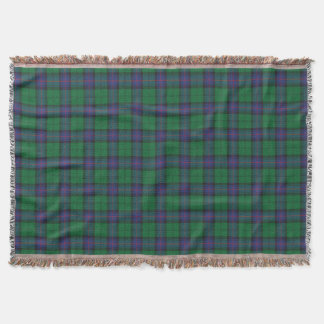 Armstrong plaid throw blanket