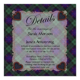Armstrong Scottish clan tartan - Plaid 5.25x5.25 Square Paper Invitation Card