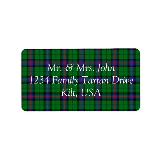 Armstrong Tartan Label Address Label