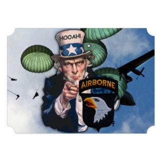 army 101st airborne veterans vets patch custom invitation