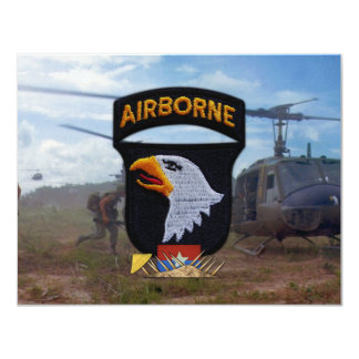 army 101st airborne vietnam nam patch 4.25x5.5 paper invitation card