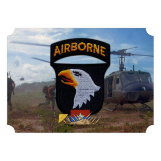 army 101st airborne vietnam nam patch personalized invites