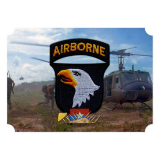 army 101st airborne vietnam nam patch 5x7 paper invitation card