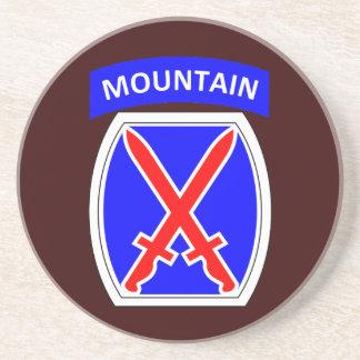 Army 10th  Division Sandstone Coaster