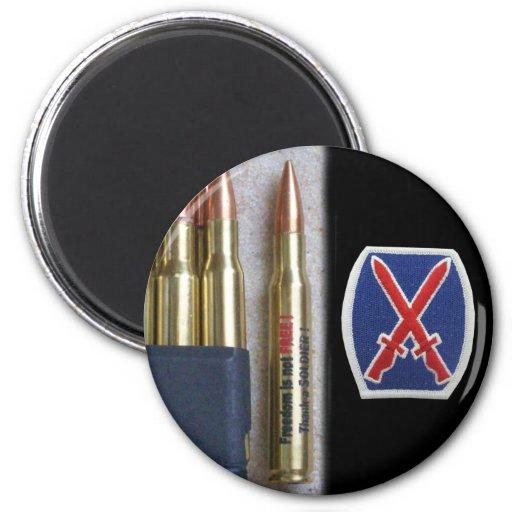 army 10th mountain div iraq nam vet vfw Magnet Magnets