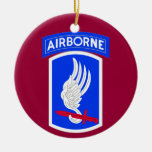 Army 173rd Brigade Combat Team Christmas Tree Ornaments