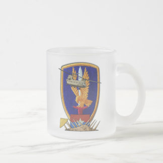 Army 1st Aviation Veterans Vietnam Nam War Frosted Glass Mug