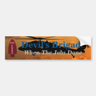 Army 1st Special Service Force SSF Devil's Brigade Bumper Sticker