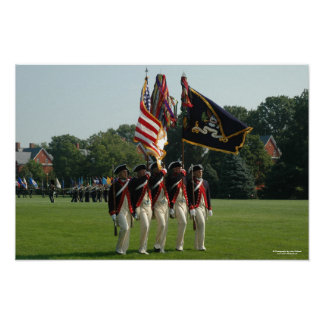 Army 3d Infantry - The Continental Color Guard Posters