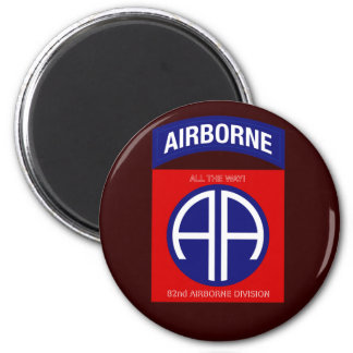 Army 82nd Airborne Division 6 Cm Round Magnet