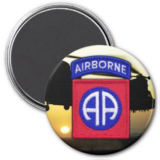 army 82nd airborne iraq vet veterans LRRPS 7.5 Cm Round Magnet