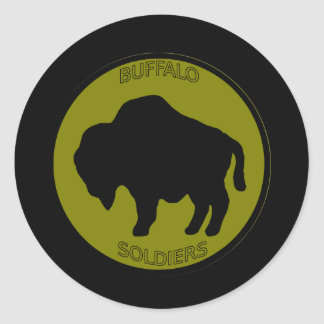 Army 92nd Infantry Division Round Sticker