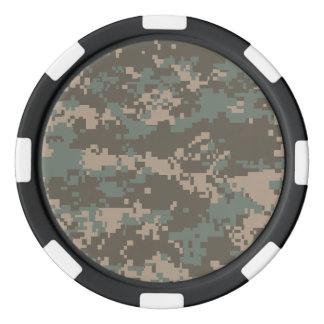 Army ACU Camoflage Poker Chips