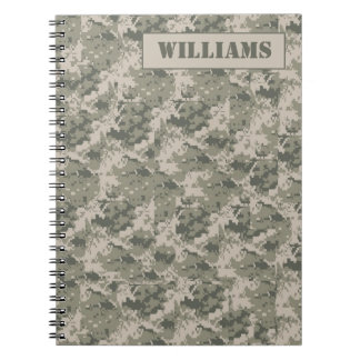 ARMY ACU Camoflauge Digital Camo Spiral Notebook