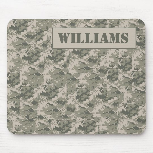 ARMY ACU Camoflauge Digital Personalised Mousepad
