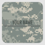 Army ACU Camouflage Customisable Square Sticker