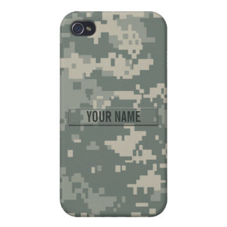 Army ACU Camouflage Customizable Cases For iPhone 4